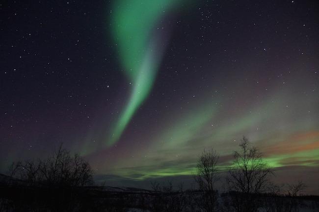 Vackert norrsken